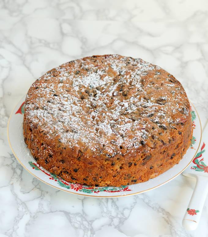 brandy aged fruitcake