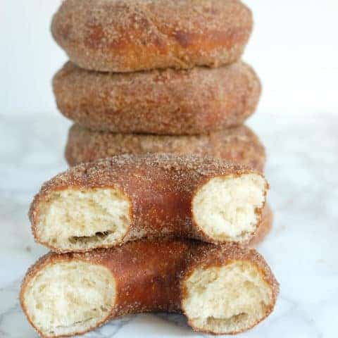 Sourdough Donuts with Cinnamon Sugar