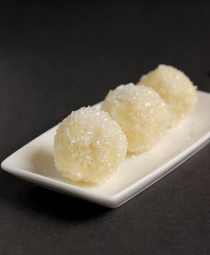 a tray of Snowball Truffles