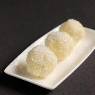 white chocolate ganache snowball truffles