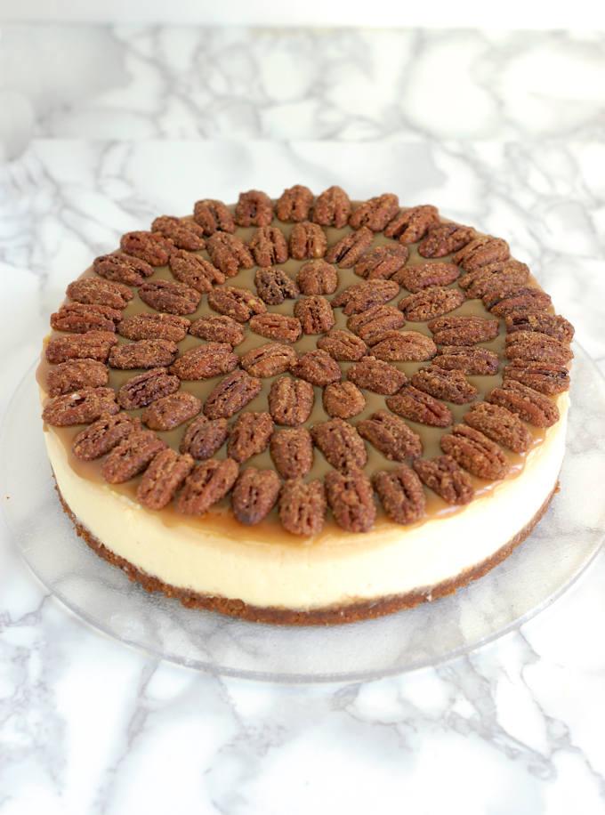 Bourbon Butterscotch Cheesecake