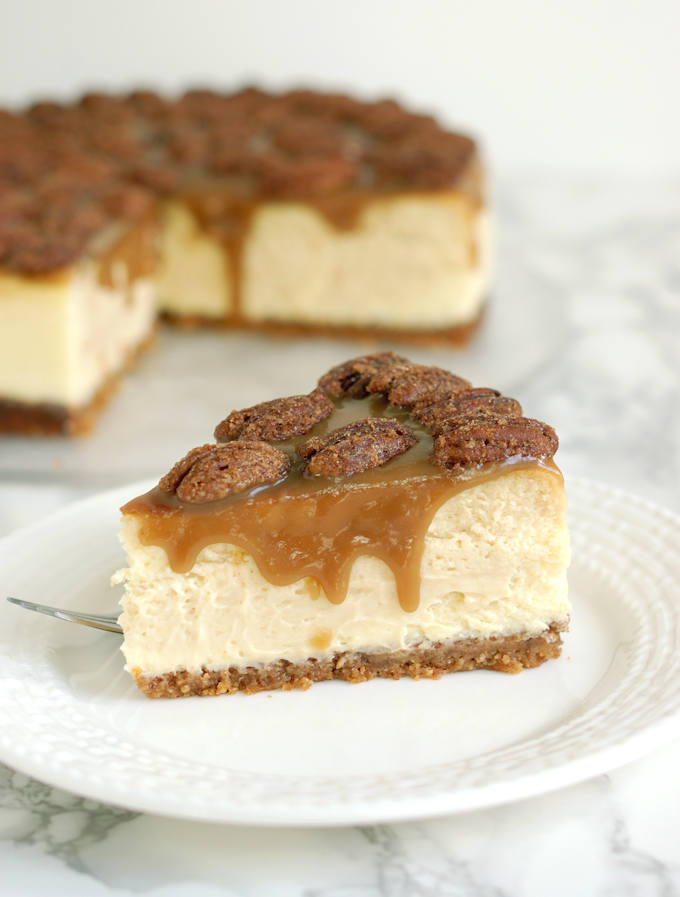 Bourbon Butterscotch Cheesecake