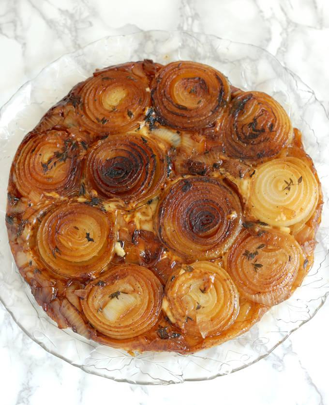 french onion tarte tatin