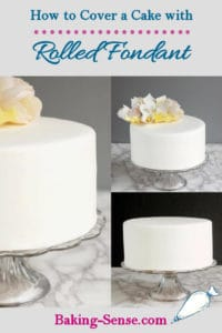 a pinterest image of fondant cakes