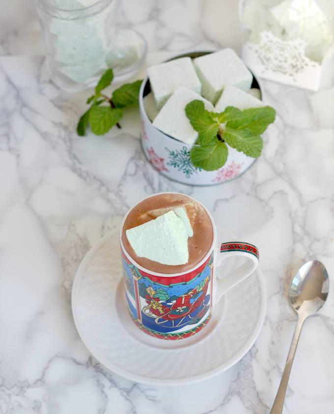 fresh mint marshmallows