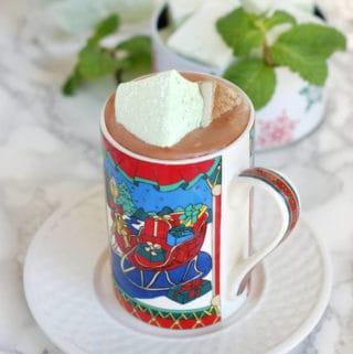 homemade fresh mint marshmallows