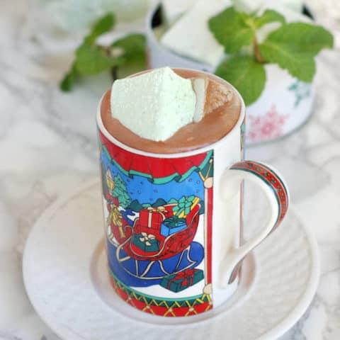 homemade fresh mint marshmallows