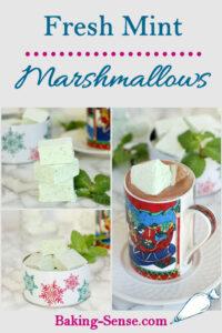 homemade mint marshmallows pinterest image