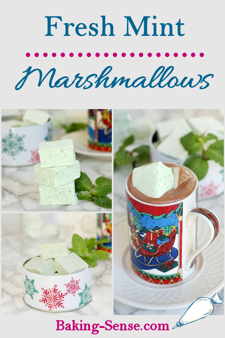 homemade mint marshmallows
