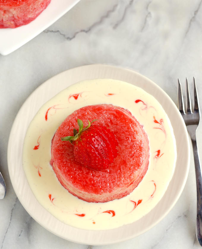 creme anglaise with summer pudding