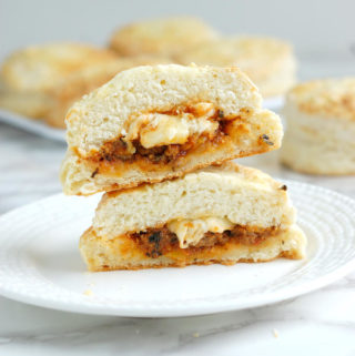 Sloppy Joe Stuffed Biscuit