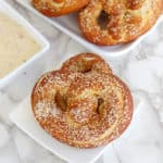 sourdough soft pretzels