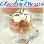 a pinterest image for classic chocolate mousse recipe