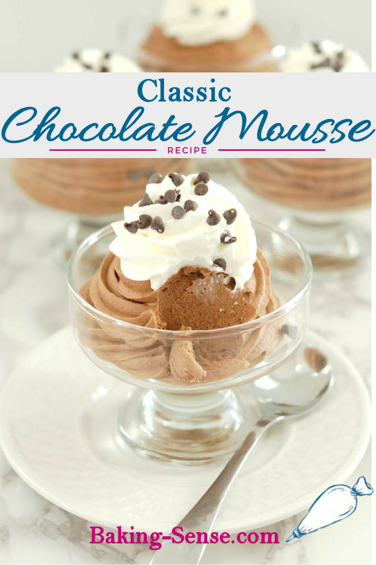 Classic Chocolate Mousse never goes out of style. This dessert is the perfect marriage of light-as-air texture and rich, chocolate-y flavor. It just melts in your mouth.