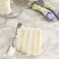 Snow White Coconut Cake