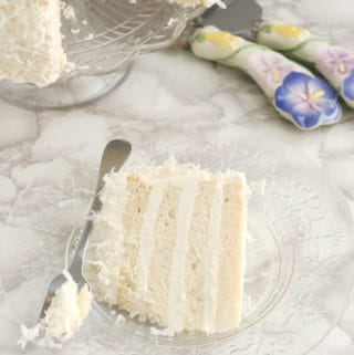 Snow White Coconut Layer Cake