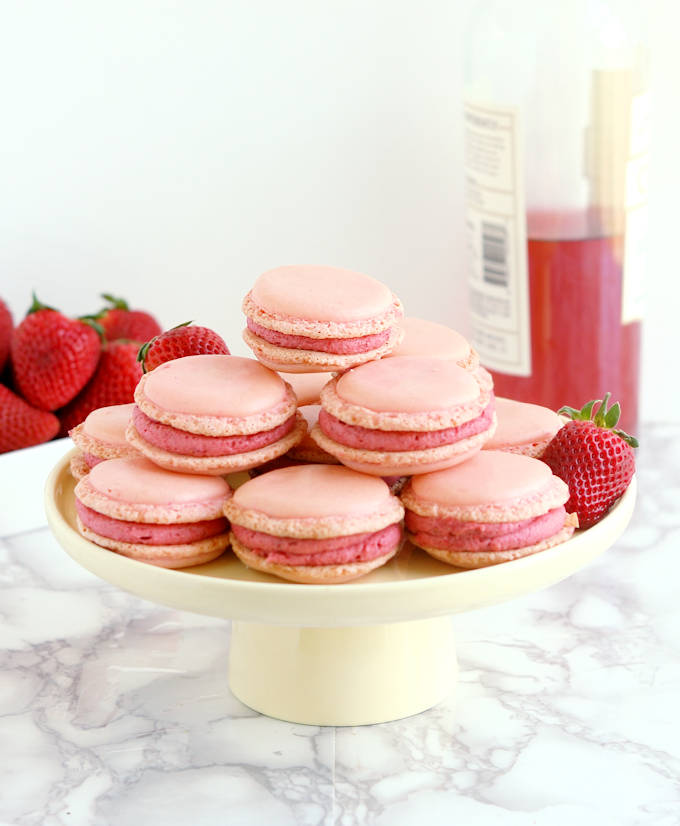 Strawberry Rose Wine Macarons Baking Sense