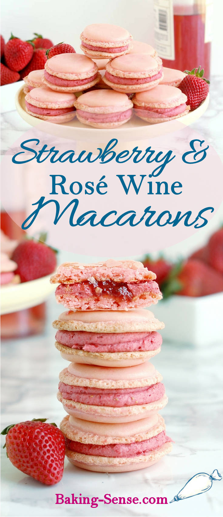 Have you been afraid to make French macarons? I'll show you exactly how the batter should look for macaron success and I'll tell you about the special ingredient I use to get a bold strawberry flavor in the filling. The strawberry flavor is enhanced with an infusion of rosé wine. #best #video #how-to #authentic