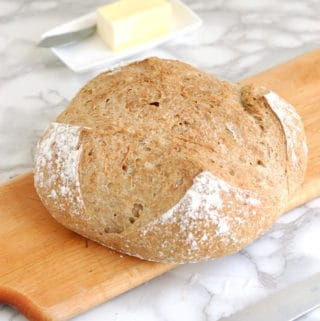 whole grain low knead bread
