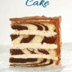 a pinterest image for marble cake