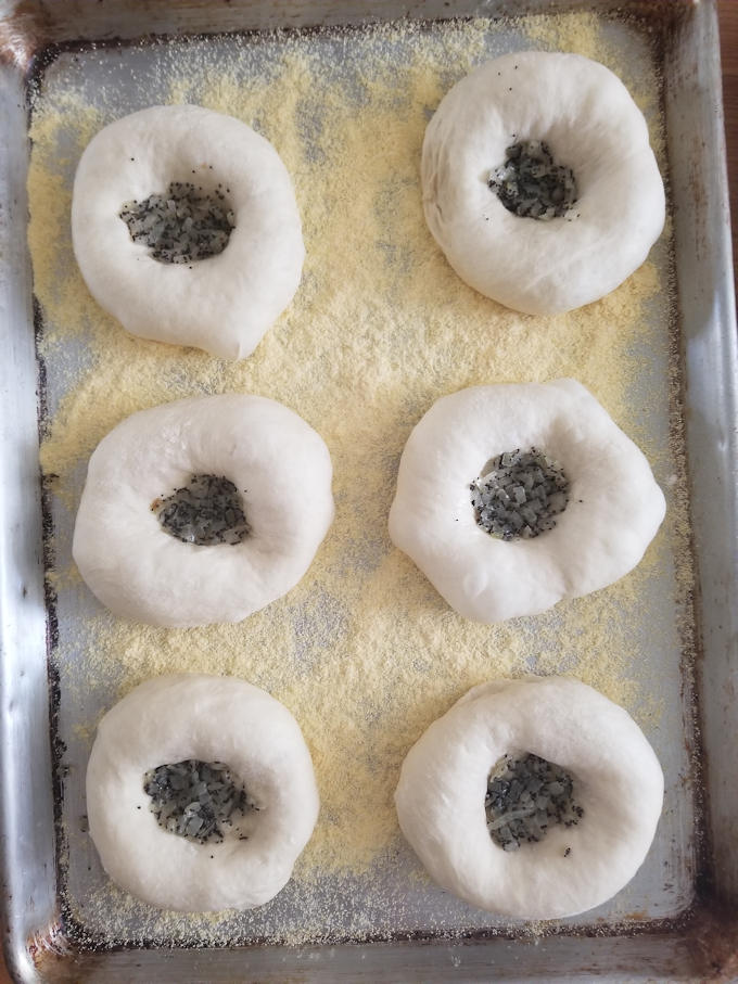 Onion & Poppy Seed Bialys, ready for the oven