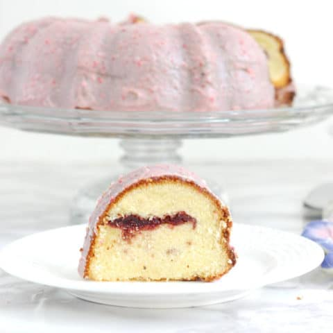 Strawberries & Cream Bundt Cake