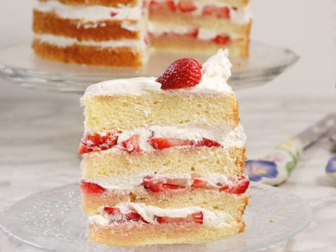 Strawberry Tall Cake Strawberry Chiffon Cake Baking Sense