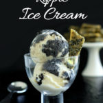 pinterest image for black sesame ice cream