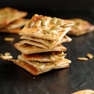 pumpkin seed crackers