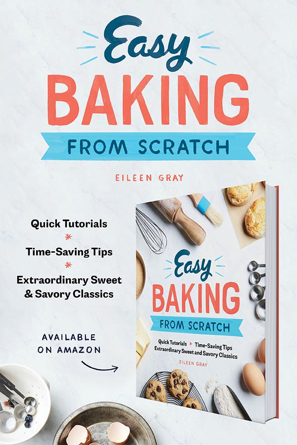 Many people are intimidated by the precision and technique of baking, but I'm here to say that you don't need to be a top pastry chef to make baked goods from scratch. In Easy Baking from Scratch I offer the easiest recipes, time-saving tips, and quick tutorials so that anyone can bake homemade treats.
