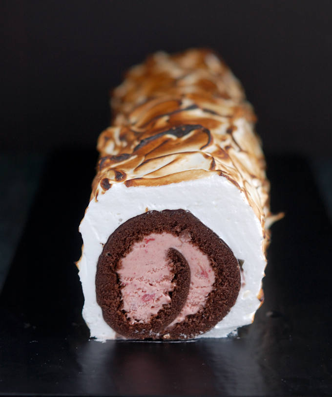 a baked alaska cake roll