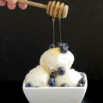 a pinterest image for frozen yogurt recipe