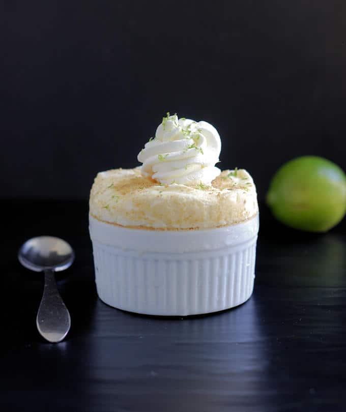 a key lime frozen souffle