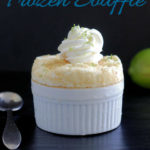 a pinterest image for key lime souffle