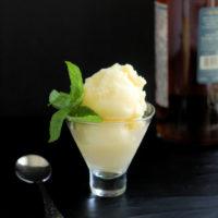 Pineapple Rum Sorbet or Granita