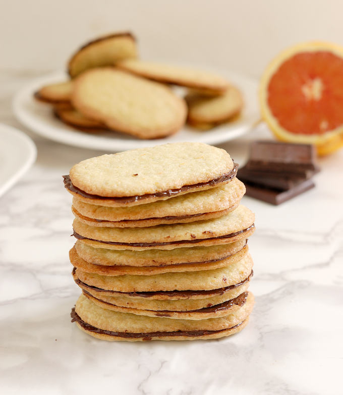 A stack of chocolate orange thins
