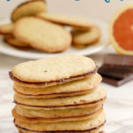 a stack of chocolate orange thin cookies