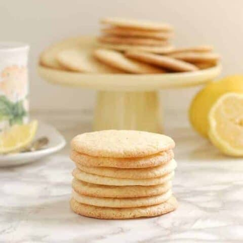 lemon thin cookies