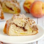 peach & pecan streusel coffee cake
