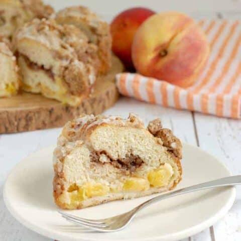 Peach & Pecan Struesel Coffee Cake