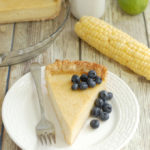 a slice of Sweet Corn Buttermilk Pie