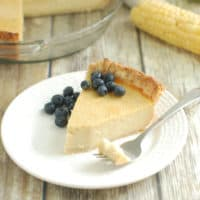 Sweet Corn & Buttermilk Pie with Lime & Cinnamon