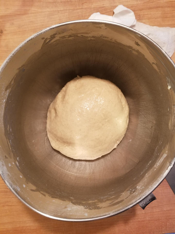 fresh apple cinnamon swirl bread dough