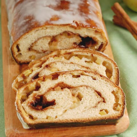 Glazed Apple Cinnamon Swirl Bread