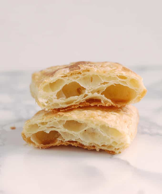 interior shot of puff pastry layers