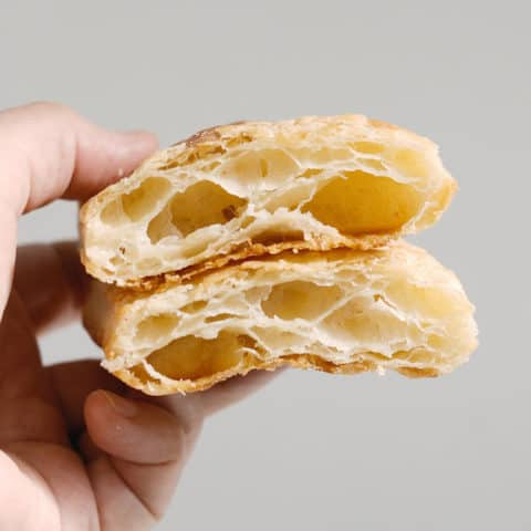 A view of all the layers in classic puff pastry
