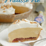 Peanut Butter Mousse Pie image for pinterest with text overlay