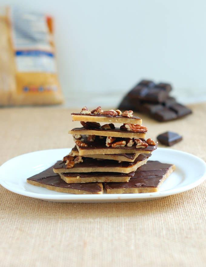 chocolate covered brown sugar toffee with or without nuts