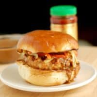 Chicken Satay Burgers with Peanut Sauce