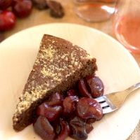 Flourless Almond Cake with Roasted Cherries